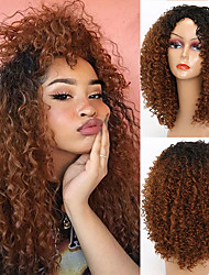 cheap -Synthetic Wig Afro Curly Side Part Wig Short A1 A2 A3 Synthetic Hair Women's Cosplay Party Fashion Brown