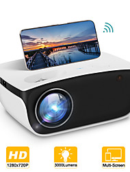 cheap -RD850 Mini Projector Native 720P WiFi Projector with Synchronize Smart Phone Screen Portable Projector Compatible with TV Stick, PS4, HDMI, VGA, TF, AV, USB