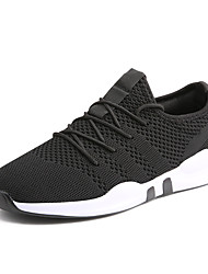 cheap -Men's Trainers Athletic Shoes Sporty Athletic Outdoor Basketball Shoes Walking Shoes Elastic Fabric Tissage Volant Breathable Non-slipping Shock Absorbing Booties / Ankle Boots Black and White Black