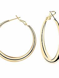 cheap -mina thick gold hoop earrings 14k gold plated large hoop earrings lightweight gold hoop earrings for women girls-925 sterling silver post