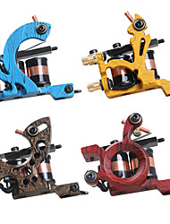 cheap -DRAGONHAWK Professional Tattoo Machine - 4 cast iron machine liner & shader Coil Tattoo Machine Professional Lining Coloring Cast Iron Casting