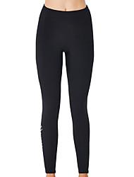 cheap -Women's Rash Guard Diving Swimsuit Tummy Control Push Up Slim Solid Color Color Block Black Swimwear Bodysuit Scoop Neck Bathing Suits New Neutral Sports