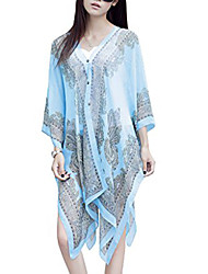 cheap -beach scarf/shawl, women's swimwear beachwear bikini cover up(blue)
