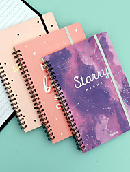 cheap -Small Fresh Coil Notebook Simple Ins Wind Rollover Spiral Notebook Creative Student Diary Notepad Customization