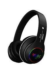 cheap -ST163 Colorful Flashing LED Light Wireless Bluetooth 5.0 Headphones Foldable Stereo Headset Support TF Card Music Play