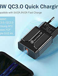 cheap -3A Quick Charge 3.0 USB Charger EU Wall Mobile Phone Charger Adapter for iPhone 12 Pro 11 Pro XS Max 8 QC3.0 Fast Charging for Samsung S21 Ultra S20 Plus Huawei P40 Xiaomi Mi11 K40Pro Smart Devices