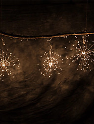 cheap -LED Fireworks Fairy String Light Outdoor Waterproof AA Battery Power Warm White Hanging Starburst Holiday String Lights IP65 for Wedding Home Patio Garden Twinkle Lighting
