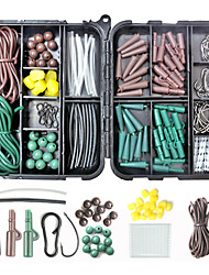 cheap -152 pcs Fishing Hooks Fishing Beads Fishing Accessories Set Plastic Steel Easy to Carry Easy to Use Carp Fishing