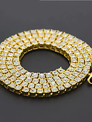 cheap -Men's Necklace Cuban Link Trendy Alloy Silver Gold 55 cm Necklace Jewelry For Street