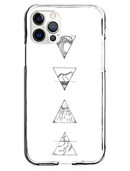 cheap -Geometric Pattern Geometric Phone Case For Apple iPhone 12 iPhone 11 iPhone 12 Pro Max Unique Design Protective Case Pattern Back Cover TPU