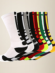 cheap -LITB Basic Men's Breathable Basketball Calf Socks Terry-loop Hosiery Anti-slip Running Sports Sock One-Size EU 39-45 For Male