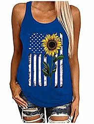 aihihe Womens Sunflower Tank Top Women Sleeveless Casual Tanks Floral Print Sleeveless T-Shirt Blouse Casual Summer Shirts
