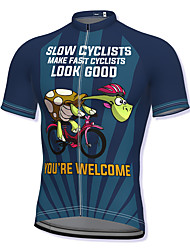 cheap -21Grams Men's Short Sleeve Cycling Jersey Summer Spandex Dark red Blue Red Bike Top Mountain Bike MTB Road Bike Cycling Quick Dry Breathable Sports Clothing Apparel / Athleisure