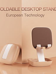 cheap -Phone Holder Stand Mount Desk Cell Phone Foldable Phone Desk Stand Adjustable Aluminum Alloy ABS Phone Accessory iPhone 12 11 Pro Xs Xs Max Xr X 8 Samsung Glaxy S21 S20 Note20
