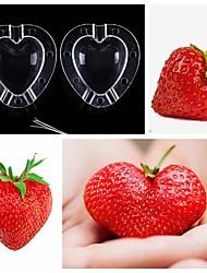 cheap -Mold Growing Heart Shape Fruit Shaping Apple Mould Vegetable Garden Plastic Tool