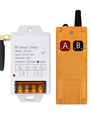 cheap -DC 12V single-channel remote control switch/30A high-power relay/long-distance remote control/interlock mode A on B off 433M