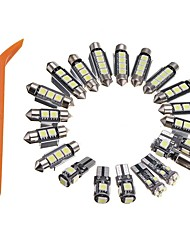 cheap -20pcs Car LED Car Canbus Light Light Bulbs 320 lm SMD 5050 4 W 6000 k 4 For Volkswagen Audi All Models All years