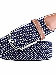 cheap -belt for women, bz fashion waist belt for jeans,woven stretch belts-blue