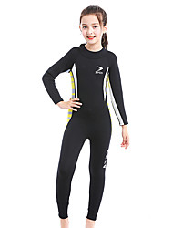 cheap -Kids Girls' Swimwear Rash Guard One Pieces One Piece Swimsuit Print Swimwear Color Block Black and white + yellow edge Sky blue + green edge Rose red + pink Active Bathing Suits