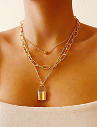 cheap -Women's Pendant Necklace Chain Necklace Fashion Alloy Rainbow 35-45 cm Necklace Jewelry 1pc For Beach / Layered Necklace