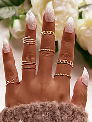 cheap -Ring Vintage Style Gold Silver Alloy Wave Statement Fashion Vintage 1 set One Size / Women's