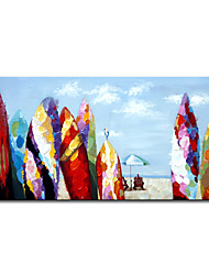 cheap -Mintura Hand-Painted Zoned Wave Plate  Oil Painting On Canvas Modern Landscape Home Decor Art Wall Picture Large Size Art (Rolled Canvas without Frame)
