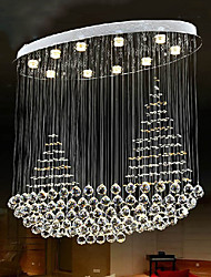 cheap -100cm Simple Crystal Chandelier Ceiling Light Oval Living Room LED Living Room Bedroom Dining Room Lighting Bar Ceiling Lamp Fixtures