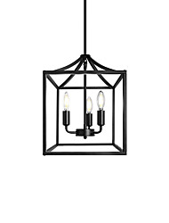 cheap -30 cm Lantern Desgin Pendant Light Metal Vintage Style Black Gold Metal Minimalist Painted Finishes Vintage Nordic Style 110-120V 220-240V