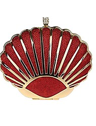 cheap -mini seashell purses for women clutch handbags for girls,red