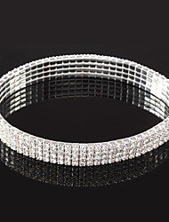 cheap -Women's Crystal Bracelet Tennis Chain Lucky Stylish Silver Bracelet Jewelry Silver For Gift Festival
