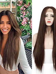 cheap -Lace Straight Front Wigs Long Straight Synthetic Wig for Women Japanese Heat resistant FIBER 26 Inch