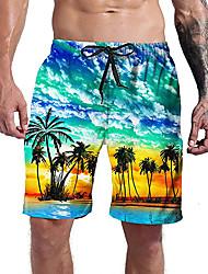 cheap -Men's Casual Athleisure Shorts Daily Holiday Pants 3D Print Coconut Tree Short Drawstring Pocket Elastic Drawstring Design 1 2 3 4 5