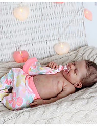 cheap -20 inch Reborn Doll Baby & Toddler Toy Baby Girl Reborn Baby Doll April Newborn lifelike Hand Made Simulation Cloth Silicone Vinyl with Clothes and Accessories for Girls' Birthday and Festival Gifts