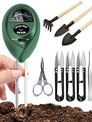 cheap -10pcs/set Soil PH Meter Sunlight Soil Moisture Sensor Meter Plant Tester Garden Hand Tools Transplanting Bonsai Tools Planting Flower Succulent Miniature Gardening Tools