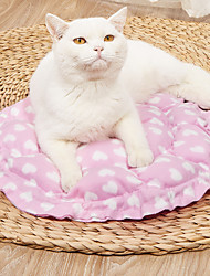cheap -Dog Cat Pets Cat Beds Dog Bed Mat Pet Sleeping Nest Heart Portable Foldable Washable Dual-use Mat Nylon for Large Medium Small Dogs and Cats
