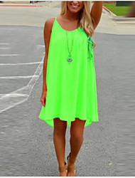 cheap -Women's Strap Dress White Black Purple Light Green Orange Green Light Blue Sleeveless Red Summer Hot S M L XL XXL 3XL