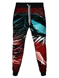 cheap -Men's Women's Sweatpants Joggers Jogger Pants Athletic Bottoms Drawstring Beam Foot Winter Fitness Gym Workout Running Jogging Training Breathable Soft Sweat wicking Normal Sport Black / Red Coral