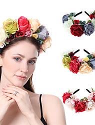 cheap -AliExpress New Fabric Big Rose Flower Christmas Halloween Wide Hair Band Retro Headband