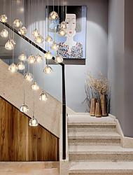 cheap -1/3/5 Heads LED Pendant Light Crystal Stainless Steel LED Nordic Style 110-120V 220-240V