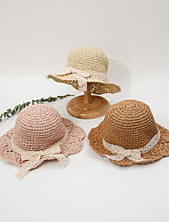 cheap -1pcs Kids / Toddler Unisex Cut Out / Sweet Birthday / Casual / Daily Wear Floral Stylish Polyester Hats & Caps Blushing Pink / Khaki / Beige S
