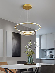 cheap -60 cm LED Pendant Light Nordic Modern Gold Circle Includes Dimmable Version Metal Artistic Style Stylish Painted Finishes Artistic LED 220-240V