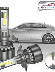 cheap -2pcs Car LED Headlamps H7 H4 H3 Light Bulbs 5000 lm High Performance LED 60 W 6000 k 2 For Volkswagen Toyota Nissan M3 Tiguan Passat 2018 2008 2009