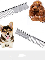 cheap -Dog Grooming Stainless steel Comb Casual / Daily Pet Grooming Supplies Silver 1 Piece