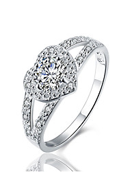 cheap -925 sterling silver cubic zirconia halo wedding band anniversary engagement ring bridal size 10