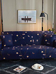 cheap -Purple Flower Print Dustproof Stretch Sofa Cover Super Soft Fabric Fit for 1to  4 Cushion Couch and L Shape Sofa (You will Get 1 Throw Pillow Case as free Gift)