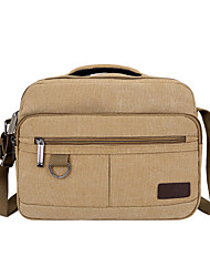 cheap -Unisex Bags Canvas Crossbody Bag Zipper Plain Daily 2021 Canvas Bag Handbags Black Khaki Green Brown