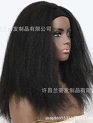 cheap -turban wig chemical fiber headgear  fashion wig ladies fluffy explosive hair band wig headg