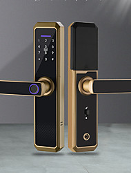 cheap -Wifi Electronic Smart Door Lock With TTLock App,Security Biometric Fingerprint Intelligent Lock With Passcode RFID Alexa