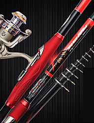 cheap -Fishing Rod and Reel Combo Telescopic Rod 360/450/540/630 cm Carbon Fiber Portable Lightweight Sea Fishing Lure Fishing Freshwater and Saltwater