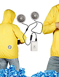 cheap -Men's Hoodie Jacket Cooling Fan Jacket Outdoor Air Conditioning USB Rechargeable Lightweight Breathable Jacket Spring Summer Fishing Camping & Hiking Cycling / Bike White Yellow Orange / Long Sleeve